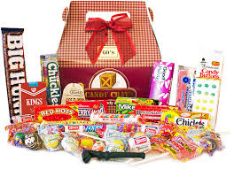 gift box vintage candy gift baskets retro candy candy crate
