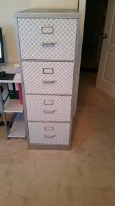 contact paper file cabinet file cabinet makeover this was an ugly beige color filing cabinet my
