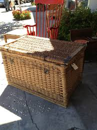furniture wicker trunk steamer trunk coffee table for sale