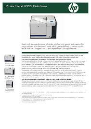 download free pdf for hp laserjet color laserjet cp3525dn printer