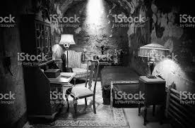 Al Capone Stock Photos And Pictures Getty Images Al Capones Prison Cell In Black And White Stock Photo