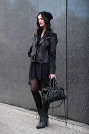 black biker style boots fashion blogger stephanie of faiiint wearing black co uk cashmere