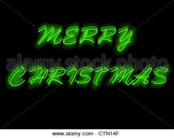 green christmas neon sign vector illustration green merry