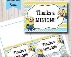 minion printable card ty005 boy baby shower