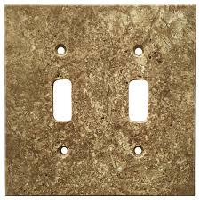 travertine light switch plates light walnut travertine switch plate cover double toggle 4 5 x5 5