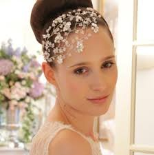 wedding headdress tallulah headdress swarovski vintage wedding side