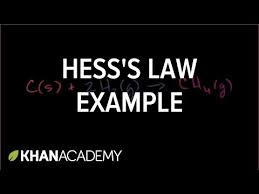 hess u0027s law example video enthalpy khan academy