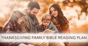 thanksgiving family bible reading plan