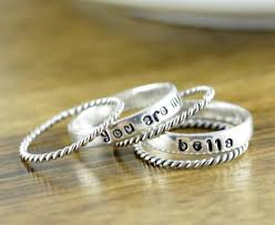 mothers ring with names mothers ring stackable name rings gift for name rings