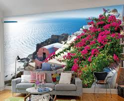 the blue mediterranean greece in aegean garden 3 d mural wallpaper the blue mediterranean greece in aegean garden 3 d mural wallpaper sitting room bedroom shop restaurant hotel background wall in wallpapers from home