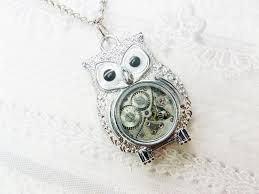 necklace with owl pendant images Original silver owl necklace steampunk owl necklace jpg