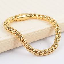 stainless gold bracelet images China fashion jewelry rose gold stainless steel men charm bracelet jpg
