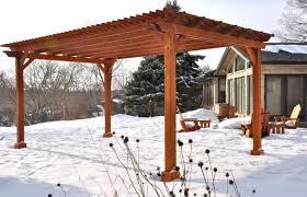 pergola amazing cedar trellis modern mid century ranch house