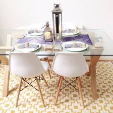 scandinavian style dining area john lewis oak and glass dining