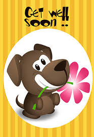feel better cards card design ideas brown puppy bitting blossom feel better cards