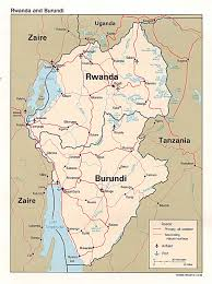 Rwanda World Map by