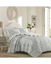 Laura Ashley Twin Comforter Sets Great Deal On Laura Ashley Venetia Quilt Set Twin Blue Cotton