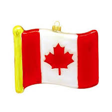 canada flag glass ornament ethnic pride ornaments
