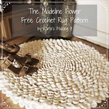 crochet rug patterns free ravelry the madeline flower crochet rug pattern by karla twomey