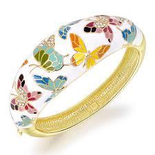 swarovski crystal gold plated bracelet images Pauline morgen quot spring of versailles quot white enamel multi jpg