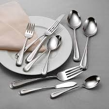 45 pc satin sand dune flatware set