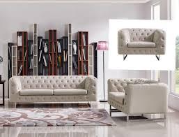 Modern Beige Sofa by Divani Casa Caswell Modern Beige Fabric Sofa Set