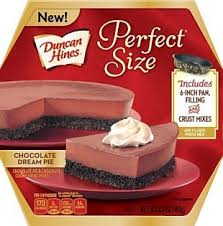 duncan hines perfect size chocolate dream pie duncan hines