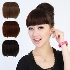 hair pieces for women free shipping sexy women girl false human wig full bangs hair