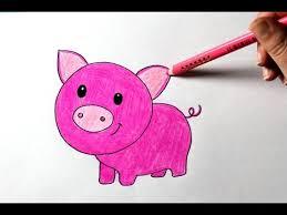 draw cartoon pig easy drawing tutorial