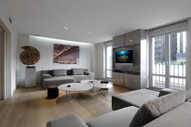 Contemporary Gray Living Room Furniture Contemporary Living Room In White And Grey Design Ideas 4