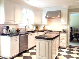 black and white kitchen milky way granite white dove bm paint on
