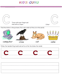 kindergarten worksheets printable handwriting worksheet alphabet c