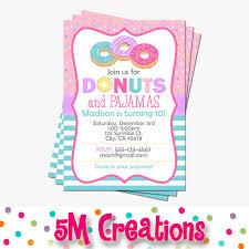 donut party invitation doughnut birthday invitations donut