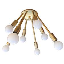 mid century flush mount lighting atomic narrow 8 arm flush mount sputnik ceiling light mid century
