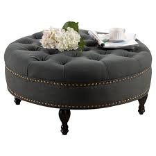 round upholstered coffee table best 25 round tufted ottoman ideas on pinterest blue ottoman