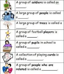 free collective noun worksheet fun with literacy my tpt