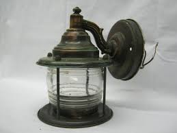 Old Lantern Light Fixtures by Vintage Nautical Lantern Porch Rose Brass Light Fixture Sconce Old