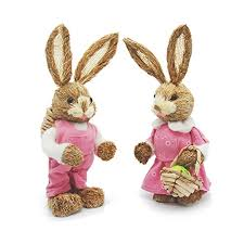 easter basket bunny easter bunny decorations soobuy 13 sisal rabbits with
