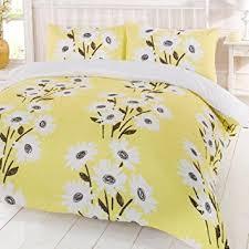 duvet cover bedding set peggy yellow king amazon co uk