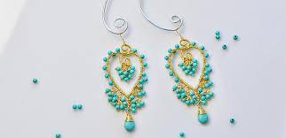 make dangle earrings pandahall tutorial on how to make delicate turquoise bead heart
