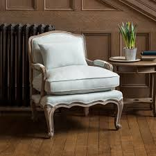French Linen Armchair Rochelle French Armchair Eau De Nil Within Home