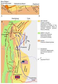 Gettysburg Pennsylvania Map by The Gettysburg Battle How One Billion Years Of Earth U0027s History