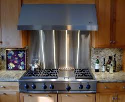 Stainless Steel Backsplashes Brooks Custom - Stainless steel backsplash