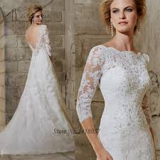 lace backless wedding gown vosoi com