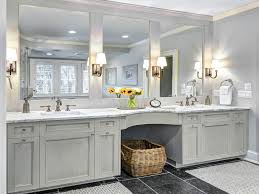 Polished Nickel Vanity Mirror Polished Nickel Mirror With Crown Molding Powder Room Transitional