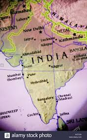 Map East Asia by Close Up Map Of The Country India Located In South East Asia Stock