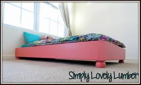 Simple Platform Bed Frame Plans by Ana White Platform Toddler Bed Diy Projects