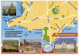 Map Of Uruguay Postcard A La Carte Uruguay Capital Map Of Montevideo
