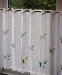 Blue Butterfly Curtains Curtains Net Curtains Cafe Net Curtains