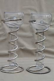Test Tube Vase Holder Silver Art Spiral Metal Vases Or Candle Holders W Tall Test Tube